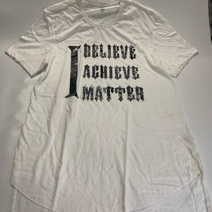 INC International Concepts   White Tee Old English